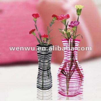 Self standing Plastic vase,Non PVC vase,flower vase