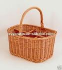wicker wine bottle holder basket (factory supplier)