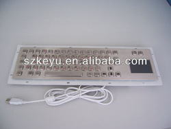 Industrial keyboard with touchpad, Metal keyboard with touchpad