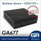 GA677 Car PC Mini ITX Case for Set Top Boxs