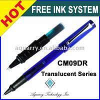CM09DR Translucent Series Plastic Free Ink Cartridge Roller Pen