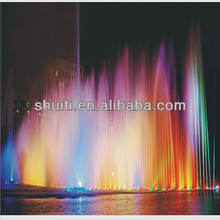 High Jet Lake Fountain Dancing, Water Fountain Colorful LED Lighting