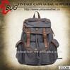 2014 100% Plain Backpack Cotton Vintage Canvas Bag