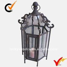 Rustic hurricane metal lantern