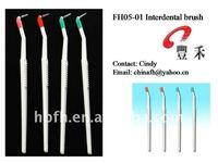 L shape interdental brush with American Dupont nylon bristle