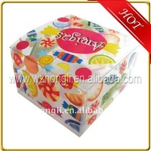 colorful printing design plastic gift boxes/pvc small gift box