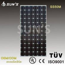 50W Monocrystalline Solar Module / Solar Panel 50W With TUV/IEC Certification