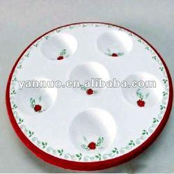 Christmas ceramic pie plates,Christmas ceramic plate,Christmas ceramic cake plate