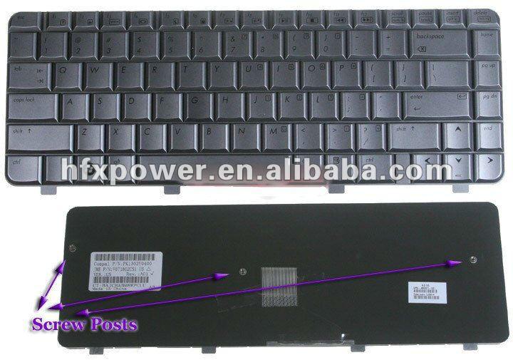 HP DV4の銀486901-001のための新しい取り替えられたラップトップのキーボード