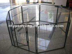 metal pet enclosure puppy playpen with 6-8 fences for pet exercise