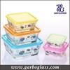 square glass bowl , fashional 5pcs glass bowl set with color box