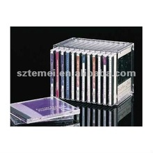 stackable acrylic CD storage or acrylic DVD display holder