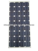 mono 100 watt solar panel for car,caravans