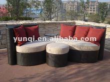 Modern rattan furniture in luxury living room