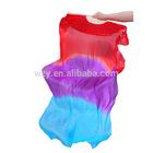 Mix Colors 180cm Belly Dance Props 100% Silk Belly Dance Silk Fan Veil