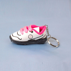 3D mini running shoe keychain