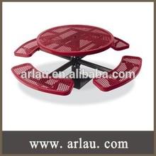 (TB-044) Round Single Steel Pedestal Table