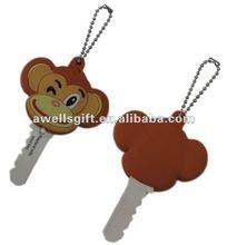 Cheap custom shape plastic rubber key cover with light