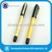 2014 Metal Gold & Black Roller Ball Pen new