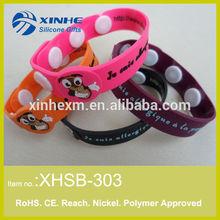 2015 Newest Debossed PVC Bracelet /PVC Wristband/ Rubber Wristband
