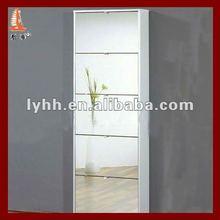 Best selling metal livingroom mirror shoe cabinet with modern 5 layers