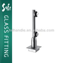 Stainless steel glass hinge, bottom door pivot for swing door, using without the floor spring