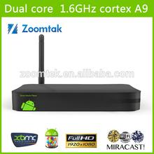 Free android google play store Google OTT android tv box 1080P HD video mini full hd media player streaming tv box arabic iotv