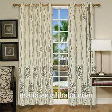 arábica brillante flocado cortina de hotel
