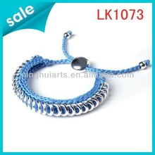 leather handmade alloy magnetic friendship made in China bracelets
