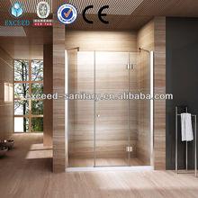 Deluxe prefab glass shower room