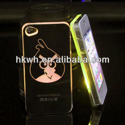 Cartoon design LED color change sense flash light case for iphone 5