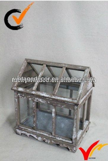 jahrgang kleine holz im garten gew chshaus aus glas. Black Bedroom Furniture Sets. Home Design Ideas
