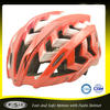 CE shiny red In mold PVC mountain bike helmet for climbing