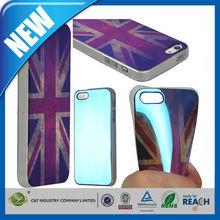 C&T UK Flag new reflex tech pattern soft tpu case for iphone 5s