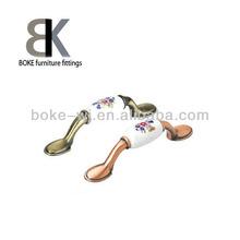 High quality zinc alloy porcelain furniture handle