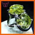 2014 yeni ürünler takı yüzük ucuz peridot yüzük, sarı altın doğal peridot yüzük, peridot yüzük