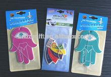 bulk car air freshener, promotion hanging paper freshener cards, car paper perfume
