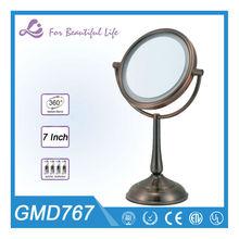Fancy round double sided smart bathroom mirror