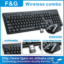 new 2.4G Wireless keyboard and mouse combo, keyboard mouse suit