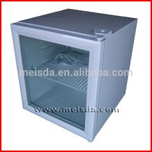 52L Small Commercial Refrigerator, Glass Door Display Fridge