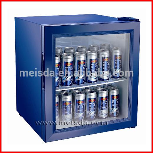 52l small commercial refrigerator glass door display fridge view