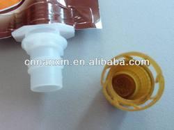 liquid chocolate tube shape spout pouch
