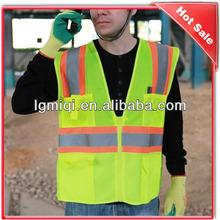 High Visibility Ployester Reflective Safety Vest & Tape Hat