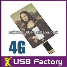 Credit card usb flash drives 2GB 4GB GB with full color Print