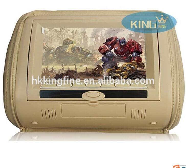 7 inch Detachable digital panel Headrest dvd player with 32 bit games/IR/wireless headphone
