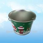 2014 Metal beer cooler ice holder tin bucket with handle