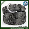 Europe Fashion Silver Buckle Black Women Leather Belt