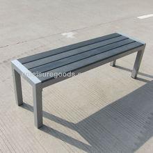 Plastic wood outdoor bench