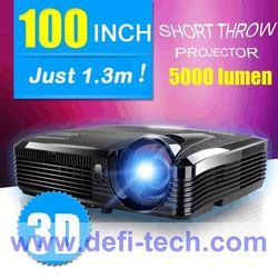 5000 lumens full hd data show short throw projector