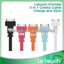 Le Touch 8pin usb data cable for iphone5 sync and charge cable for iPhone for Samsung for Android devices
